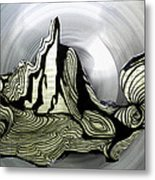 Old Drawing Called Serenity  Metal Print by Colette V Hera  Guggenheim