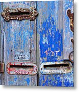Old Mailboxes Metal Print by Carlos Caetano