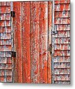 Old Orange Door  Metal Print by Garry Gay