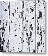 Old Painted Wood Abstract Metal Print by Elena Elisseeva