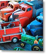 Old Tin Toys Metal Print by Steve McKinzie