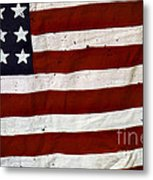 Old Usa Flag Metal Print by Carlos Caetano