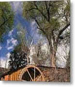 Old West Water Mill 1 Metal Print by Darcy Michaelchuk