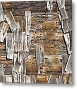 Old Wood Shingles On Building, Mendocino, California, Ca Metal Print by Paul Edmondson