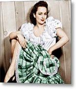 Olivia De Havilland, Ca. 1948 Metal Print by Everett