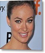 Olivia Wilde At Arrivals For Butter Metal Print by Everett