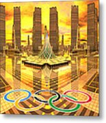 Olympia The City Of Ancient And New Champions Metal Print by Heinz G Mielke