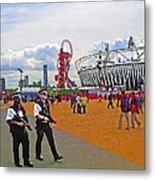 Olympic 2012 Stadium Security Metal Print by Peter Allen