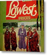 On The Lowest Prices Shopping Metal Print by Adam Kissel