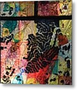 One Fish Two Fish  Red Fish Blue Fish Metal Print by Mariann Taubensee