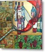 One Glass Too Many  Metal Print by Debi Starr
