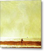 One Man And His Gull Metal Print by s0ulsurfing - Jason Swain