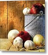 Onion Harvest Metal Print by Sandra Cunningham