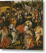 Open Air Wedding Dance Metal Print by Pieter the Younger Brueghel