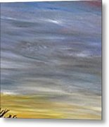 Open Road With Snow Metal Print by Becky Wheeler
