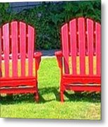 Open Seating Metal Print by Randall Weidner
