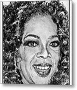 Oprah Winfrey In 2007 Metal Print by J McCombie