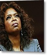 Oprah Winfrey In Attendance For Barack Metal Print by Everett