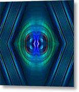 Optical Blue Metal Print by Carolyn Marshall