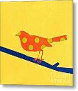 Orange Bird Metal Print by Linda Woods