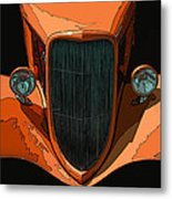 Orange Jalopy Metal Print by Samuel Sheats