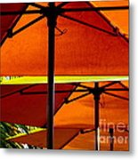 Orange Sliced Umbrellas Metal Print by Karen Wiles