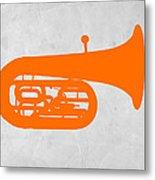 Orange Tuba Metal Print by Naxart Studio