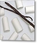Organic Marshmallows With Vanilla Metal Print by Joana Kruse
