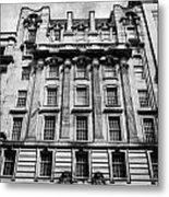Ornate Facade Of 124 St Vincent Street Refurbished Into Modern Office Space Glasgow Scotland Uk Metal Print by Joe Fox