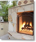 Outdoor Patio Living Space Residential Metal Print by Bryan Mullennix