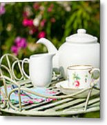 Outdoor Tea Party Metal Print by Amanda And Christopher Elwell