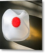 Overhead Of Plastic Gallon Water Jug Metal Print by David Buffington