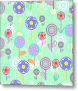 Overlayer Flowers  Metal Print by Louisa Knight