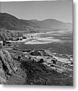 Pacific Coast Highway Coast Metal Print by Twenty Two North Photography