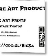 Padre Art Productions Qr Card Metal Print by Padre Art