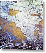 Painted Concrete Map Metal Print by Anna Villarreal Garbis
