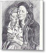 Pakistani Mother And Child Metal Print by John Keaton