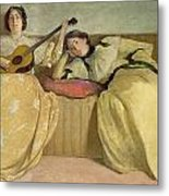 Panel For Music Room Metal Print by John White Alexander