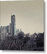 Panorama Of Central Park - Old Fashioned Sepia Metal Print by Alex AG