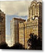 Panorama Of Manhattan Downtown  Metal Print by Alex AG