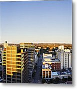 Panoramic City Skyline Metal Print by Jeremy Woodhouse
