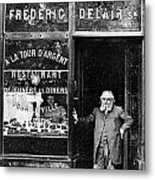 Paris: Restaurant, 1890s Metal Print by Granger