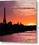 Paris Sunset Metal Print by Mircea Costina Photography