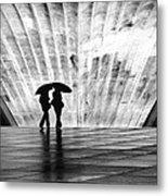 Paris Umbrella Metal Print by Nina Papiorek