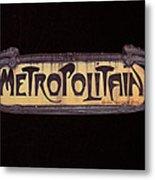 Parisienne Metro Sign Metal Print by Rod Jones
