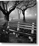 Park Benches Metal Print by Gary Heller