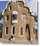 Park Guell Barcelona Antoni Gaudi Metal Print by Matthias Hauser