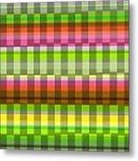 Party Stripe Metal Print by Louisa Knight