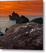 Patrick's Point Dusk Panorama Metal Print by Greg Nyquist
