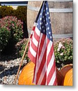Patriotic Farm Stand Metal Print by Kimberly Perry